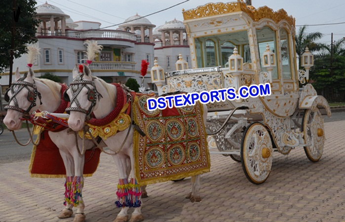 Indian Wedding Decorated Horse Buggys