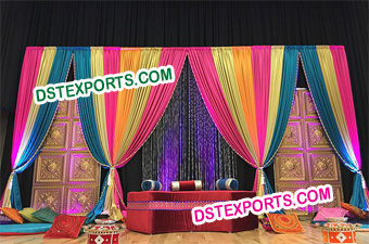 Asian Wedding Mehandi Stages Decorations