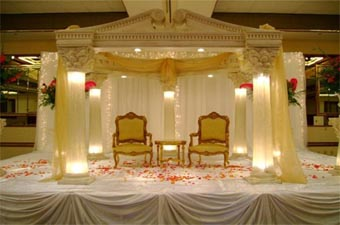 DECORATED LIGHTED WEDDING