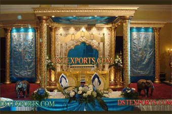 INDIAN WEDDING GOLD MANDAP SET