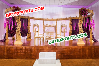WEDDING HANDCARVED WOODEN MANDAP SET