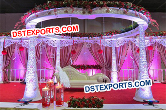 WEDDING CARVED FLORAL MANDAP
