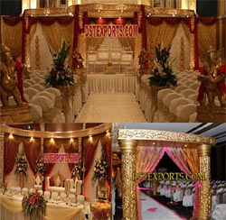 MAHARANI WEDDING GOLDEN MANDAP SET
