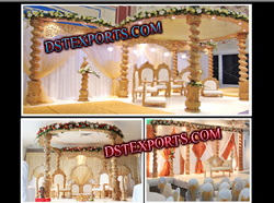 WEDDING WOODEN SPIRAL MANDAP SET