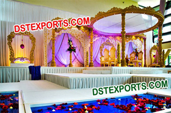 HINDU WEDDING WOODEN MANDAP SET